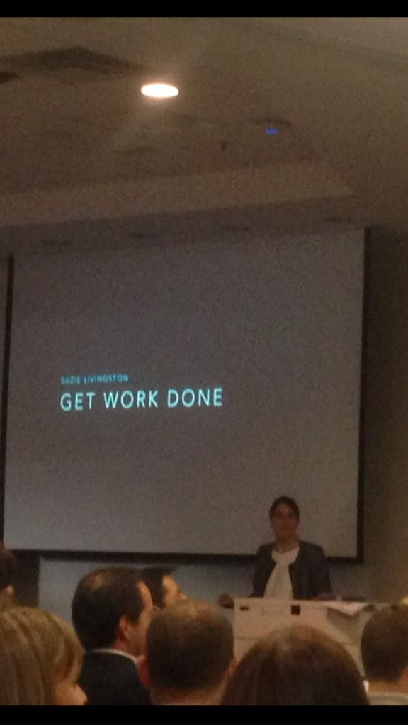 "@suzielivingston kicks off  #soccnx - how to inspire & ""get work done"" http://t.co/HG8g1IUBOY"