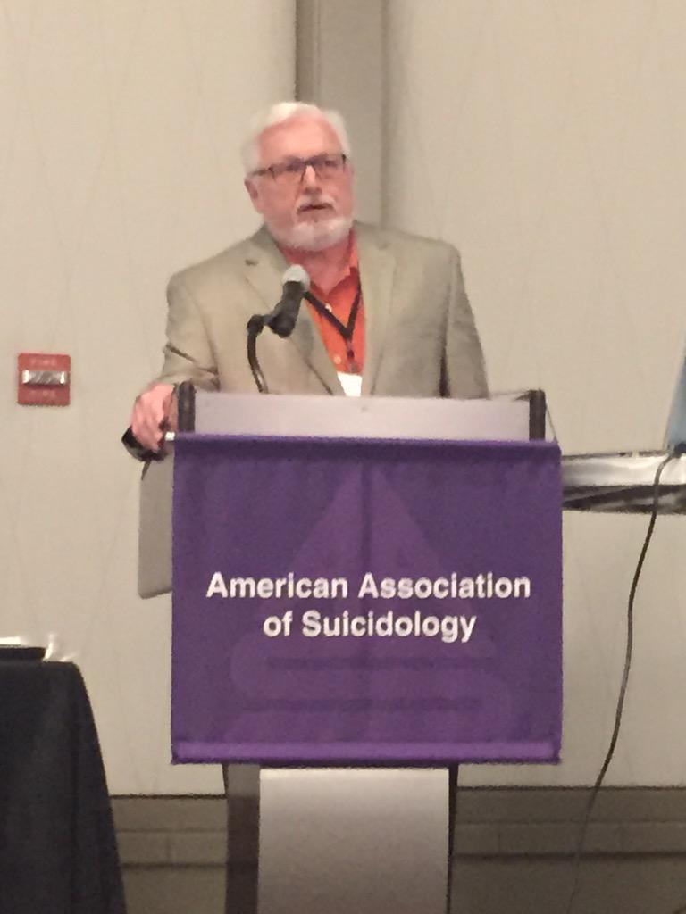 Dr Barry Walsh about to present Shneidman Award to David Klonsky #AAS15 #Klonsky http://t.co/F3IGjh57tB