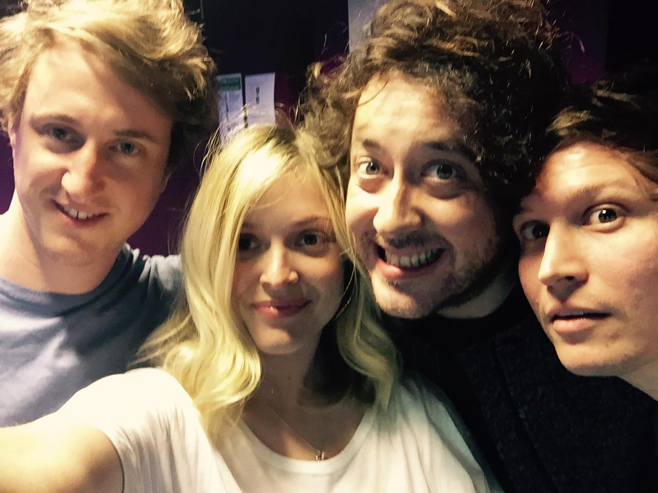 The ever smiley Wombats on my show today #R1Wombats http://t.co/VApPQyQoiO