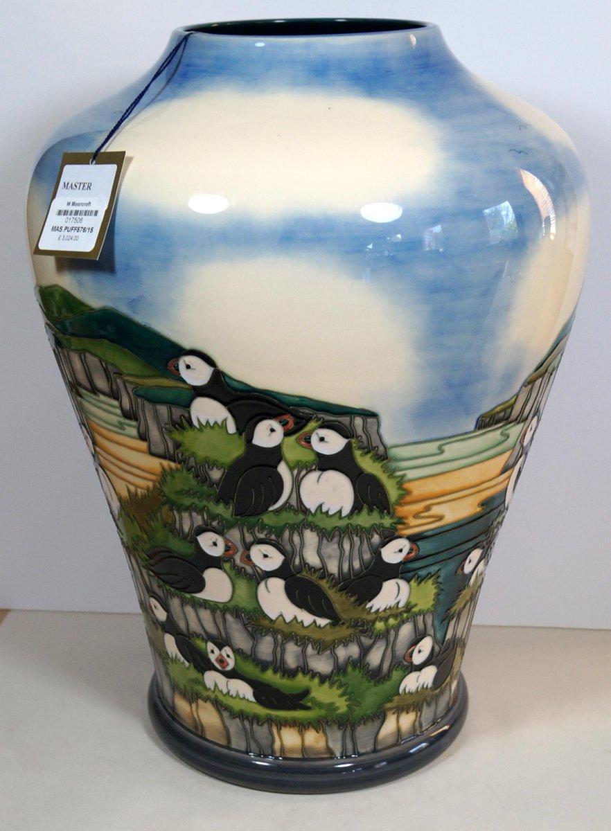 Premier Pottery On Twitter Moorcroft Master Puffins Prestige Vase