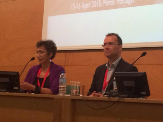 Wrapping up a great 3,days: @SPARC_NA Chair Lorraine Haricombe and @COAR_eV Chair Norbert Lossau. #coarsparc2015 http://t.co/a2waVK5hnD