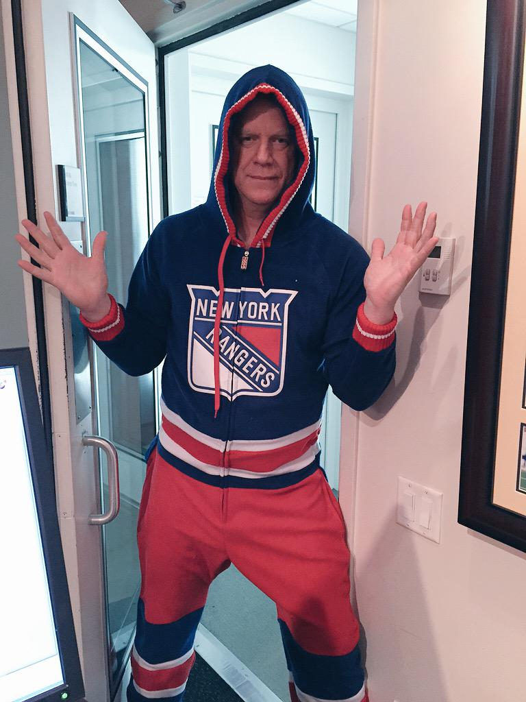 Here's Boomer in his Rangers 'outfit' @7BOOMERESIASON http://t.co/2jbOUezUqs