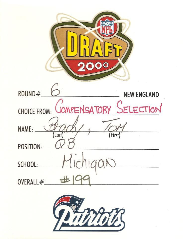A true #TBT. On this day in 2000, the #Patriots made a pretty important draft selection #TomBrady #NotBad http://t.co/oo56xgokcp