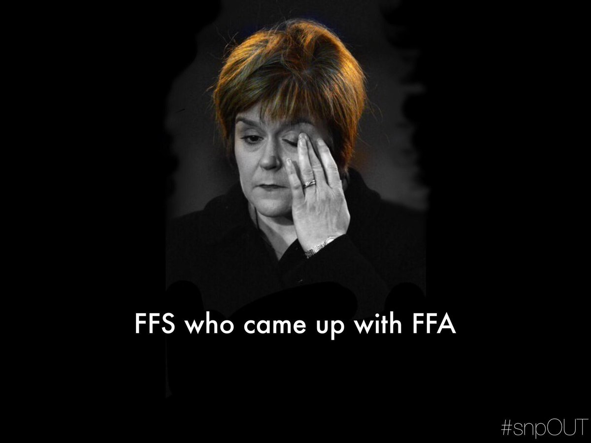 SNP POLICY: Sturgeon backs over the foot she shot herself in as she advances a full retreat on FFA... #snpOUT http://t.co/ObrDr2vnak