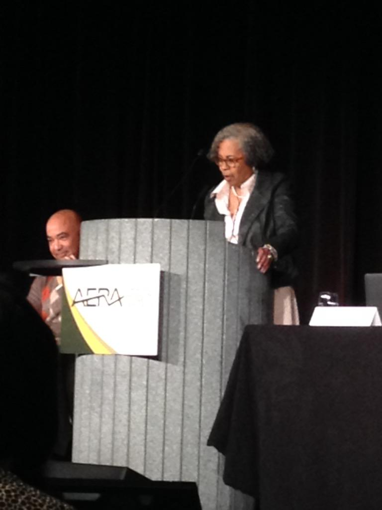 #GloriaLadsonBillings: you have to go back to law..to jurisprudence & connect it to your #CRTed research #AERA15 #GLB http://t.co/nq4abcE2eo