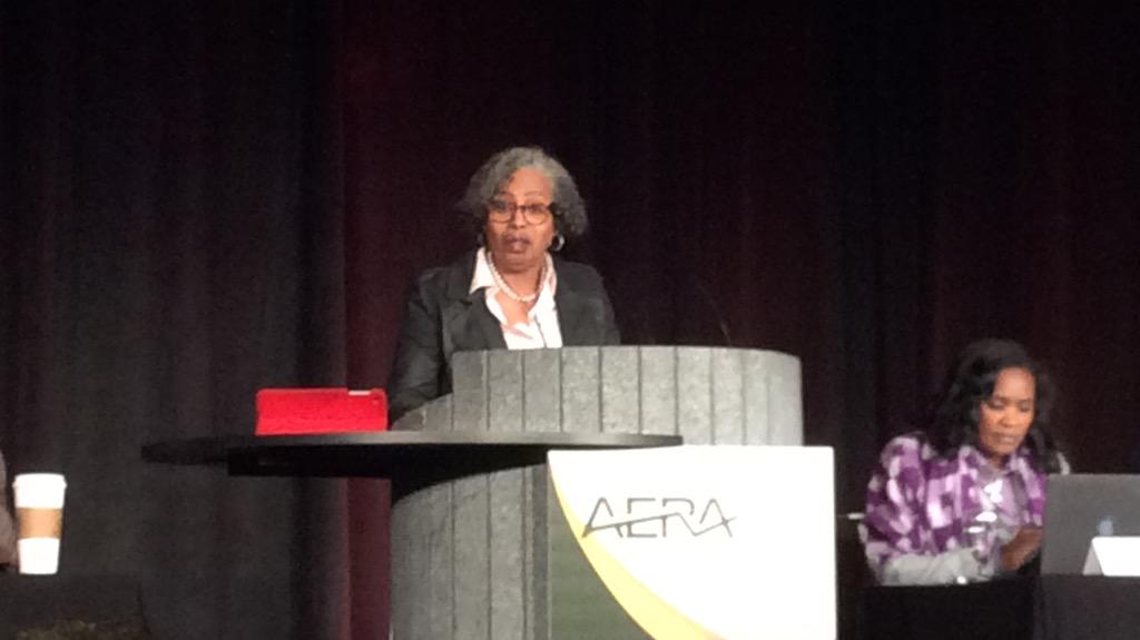 Gloria Ladson-Billings: Marxism can't answer that Janet Jackson question, what have they done for us lately? #AERA15 http://t.co/xvrszF2ypA