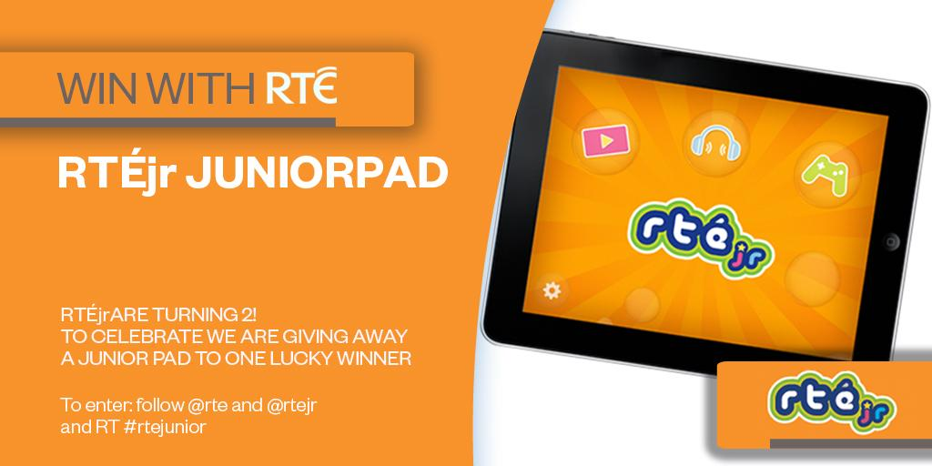 #WIN To celebrate our 2nd birthday we're giveaway a Juniorpad! To enter follow @rte and @rtejr and RT #rtejunior http://t.co/dTBqe7XRRu
