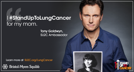 Proud to join forces with @TonyGoldwyn & @BMSNews. RT & join us as we #StandUpToLungCancer! http://t.co/Tx72gIP4Pq http://t.co/1hkaH4jTJq
