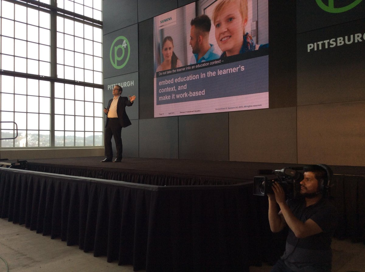 Juergen Siebel @ Siemens: Vocational ed produces employability for new jobs on the horizon #p4pgh http://t.co/D1rVSAolkB