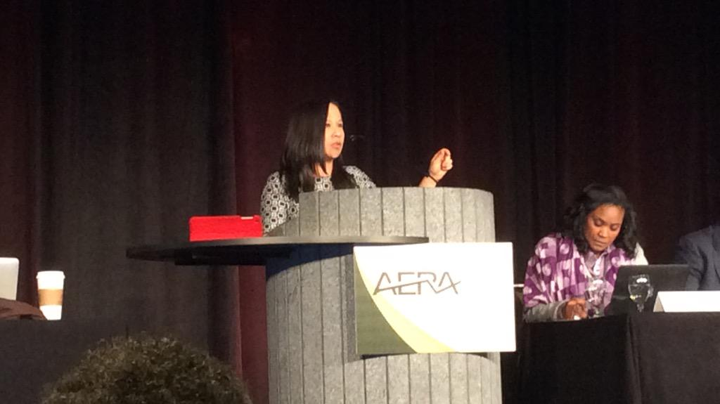 Anderson: Colorblindness produces inequity; only in color-consciousness that we can recognize that inequity. #AERA15 http://t.co/mln6jM4SJC
