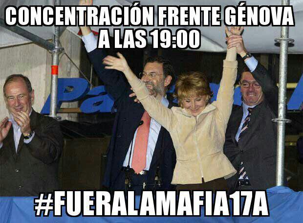 #FueraLaMafia17A Concentración convocada a través de las redes sociales CCvNHgQWYAEsUnV