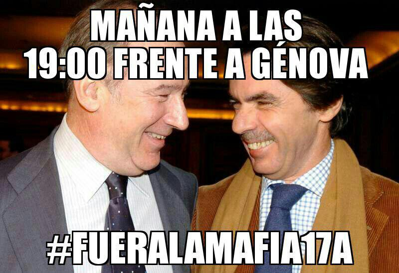 #FueraLaMafia17A Concentración convocada a través de las redes sociales CCvNKaPWAAAQB2E