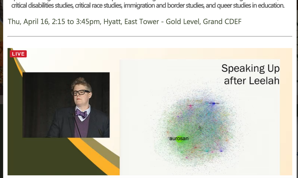 .@jgieseking normal will never afford survival #TowardWhatJustice #AERA15 #TransJustice, looking at the multitudes http://t.co/e7gk6tc2Nx