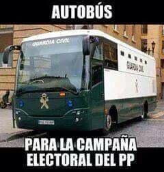 Barcenas,Rodrigo Rato, Blesa,acebes,matas,granados Camps.....el nuevo autobús del PP en campaña. #FueraLaMafia17A http://t.co/fuMUFFo6KK