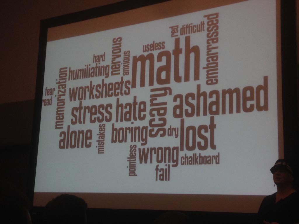 A collection of feelings that elementary teachers feel about math #NCTMBoston #shadowcon15 @TracyZager http://t.co/kgtH22X65W