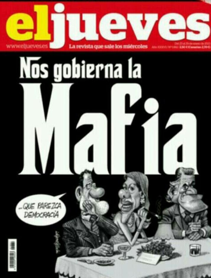 """""""@elpadrecorajede: De la boda de la hija de Aznar Solo quedan por detener a Los camareros. #FueraLaMafia17A"""" http://t.co/TgB5bHNz0D"""