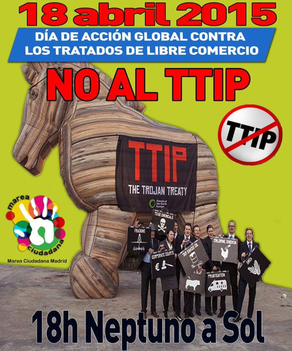 """TTIP.""""El tratado es el ataque más brutal contra la democracia desde los fascismos"""" 18A MANIFE  http://t.co/P4km4X3lgC http://t.co/1KmGoPQLns"""