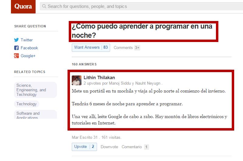 ¿Cómo puedo aprender a programar en una sola noche? http://t.co/UJWinW387L