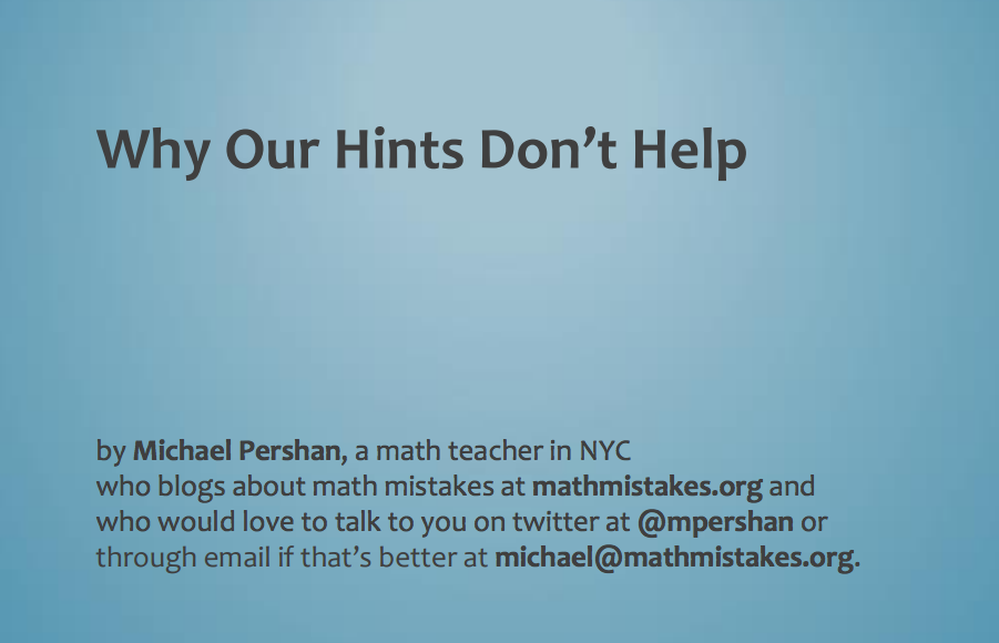 ".@mpershan up next. Title of his talk: ""Why our hints don't help"" #shadowcon15 http://t.co/34dryEwMJ4"
