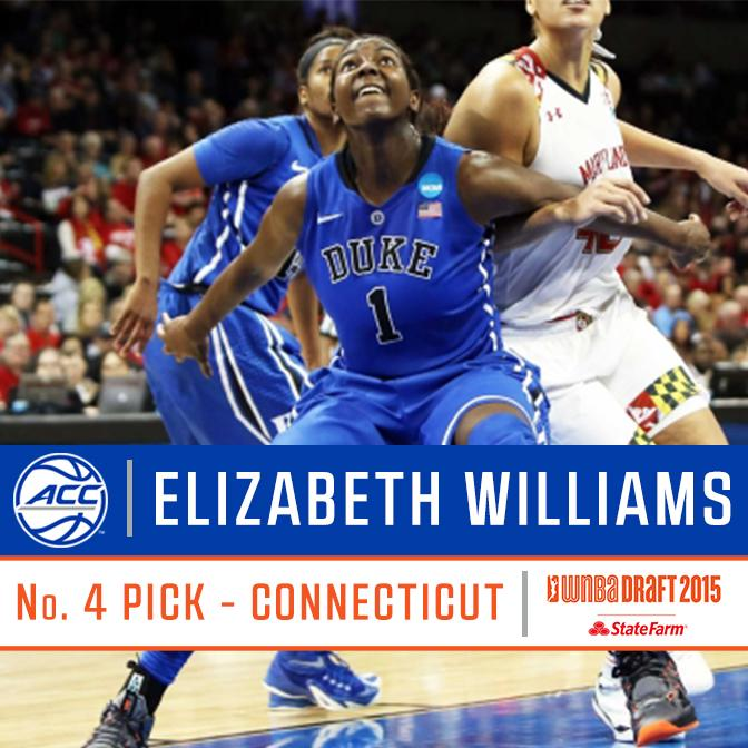 Congrats to @Duke_WBB's Elizabeth Williams, the No. 4 pick overall in the #WNBADraft http://t.co/y6FQ22K0Kw