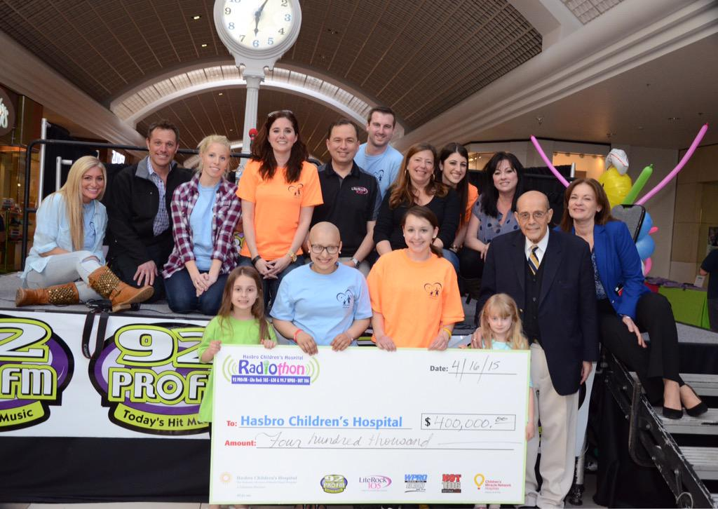 Thank you all!!! An amazing #hasbroradiothon --  $400,000 to make miracles happen!! We are speechless. http://t.co/xjteRnFhzC