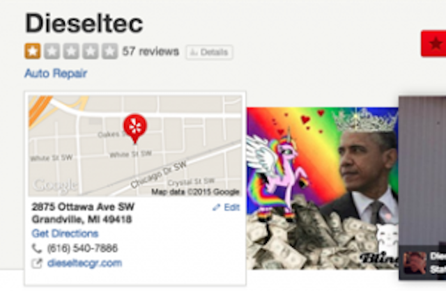 Yelp Users Bash Auto Shop Owner Who Refuses Service to Gay Customers, Makes Page Super Gay http://t.co/Qe8z0W2Ocx http://t.co/Wk1ggarlZi
