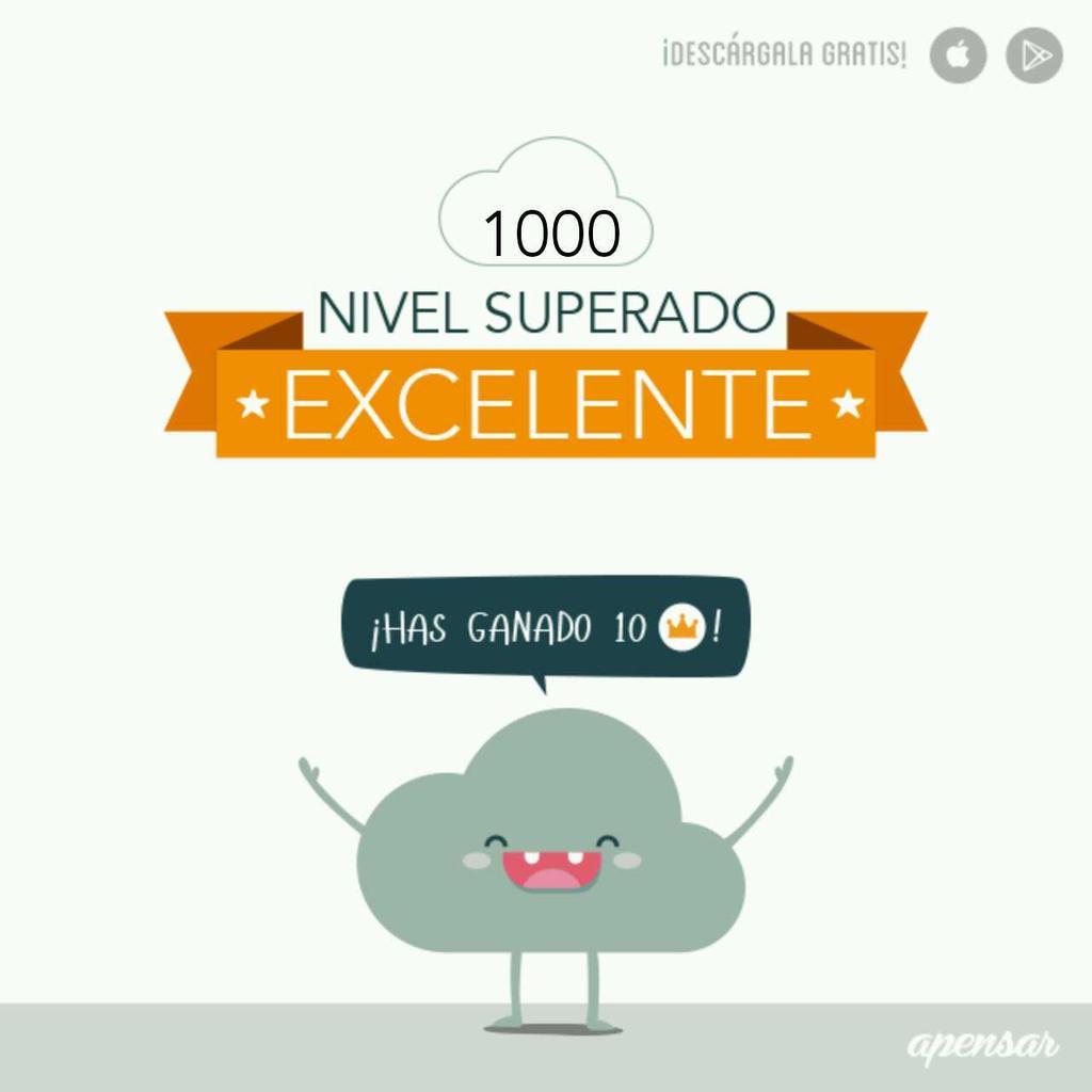 ¡Me encanta jugar #Apensar! Disponible en App Store http://icogr.com/1BCnKxL y en Google Play http://icogr.com/19hBnIt