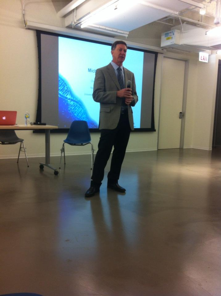Moderator Mickey Caplan MD, introducing the presenters @NorthShoreWeb @MATTERChicago #nsnextmed http://t.co/Jx91X2FsfA