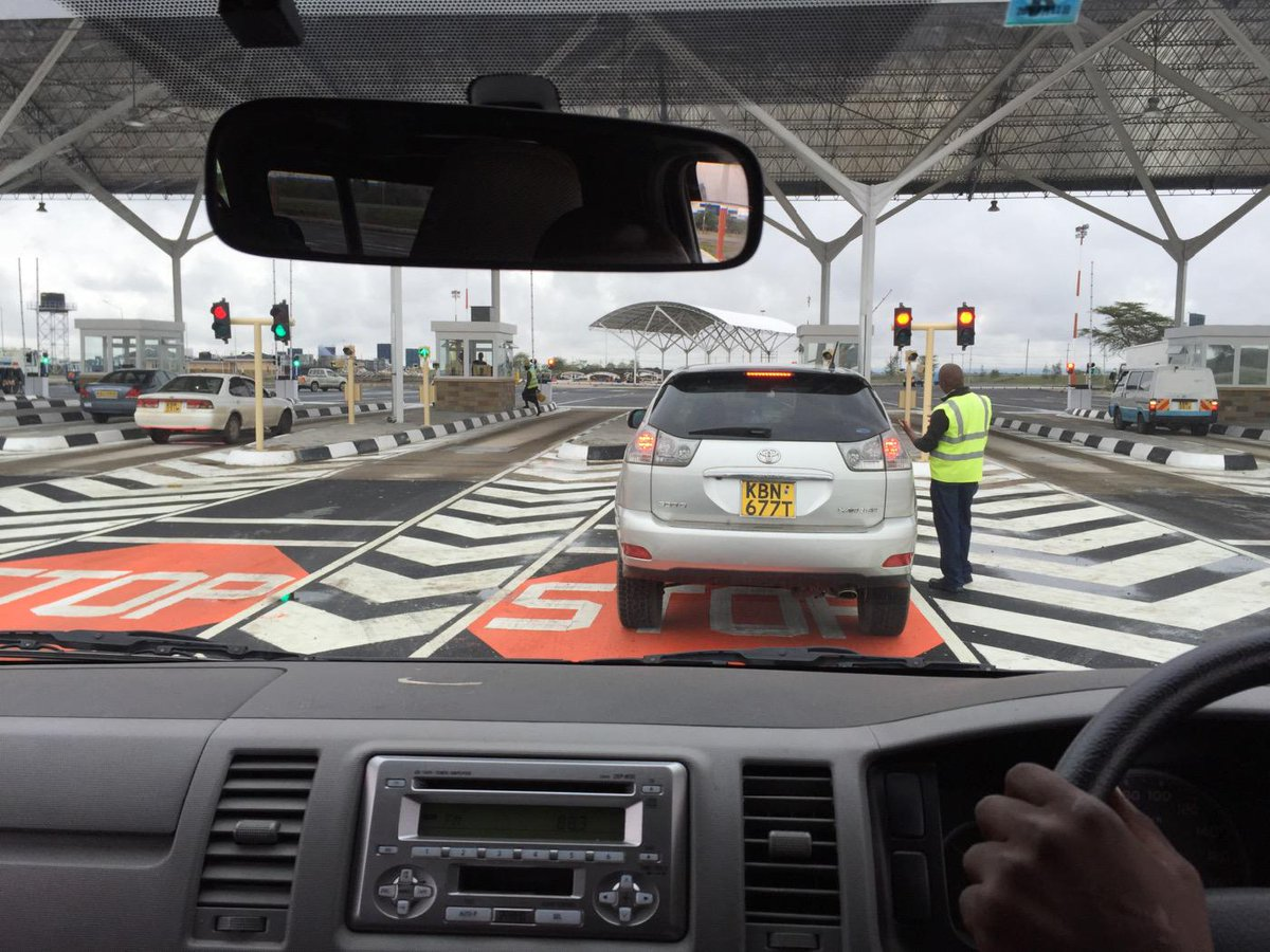 JKIA car screen security system: 16 lanes, will take 3 mins to clear each car, cameras, sensors, scanners. http://t.co/wIJXbeC3XM
