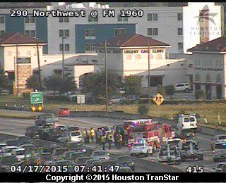 Huffmeister Rd : TRAFFIC ALERT car accident westbound