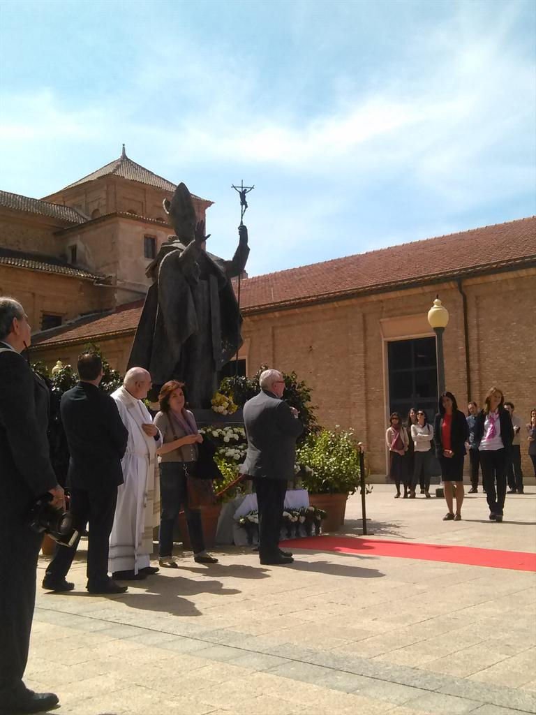 Commemoration on campus today of 10th anniversary of death of Pope John Paul II http://t.co/eEK2b9H5KO