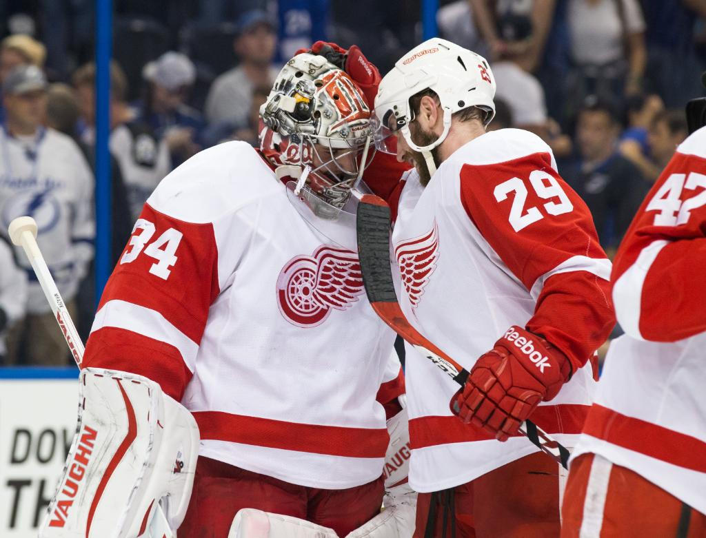 Petr Mrazek made his #Stanley Cup Playoff debut. The result? 44 saves and a @DetroitRedWings victory. #TBLvsDET