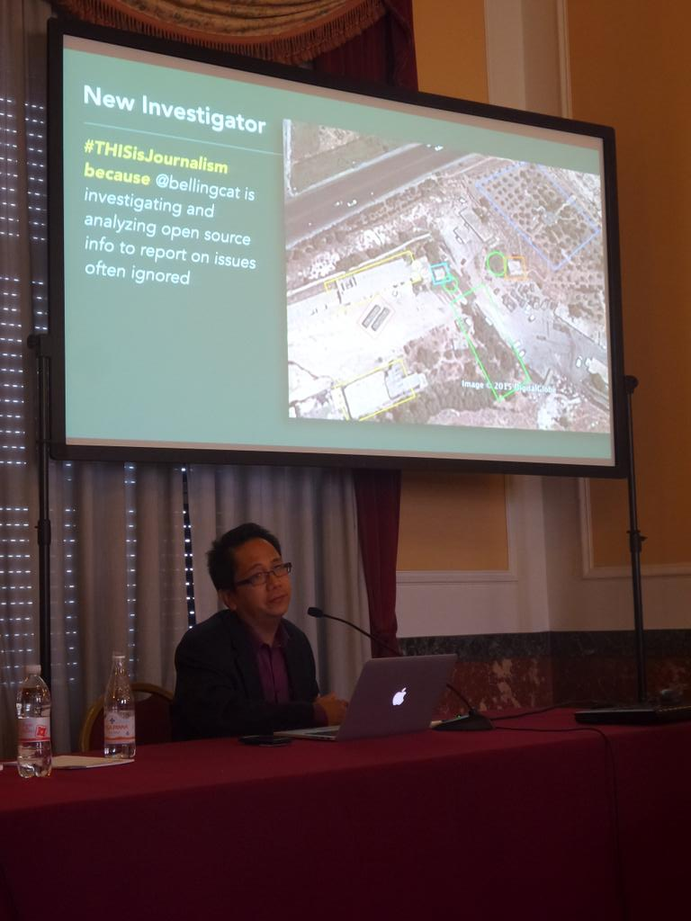 #ijf15 @drewvigal talks about @bellingcat and #journalism for #THISisJournalism http://t.co/OQlvSp2X9e