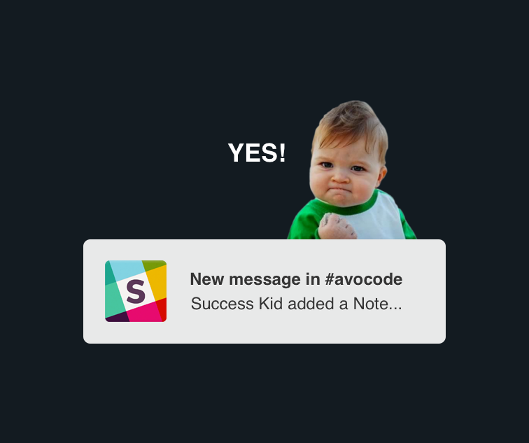 Avocode can now send real-time notifications into @SlackHQ. Yey! 😍  http://t.co/RWukEkO4fx http://t.co/XLHRd4ipqi