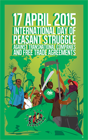 Happy International Day of Peasant Struggle! http://t.co/Z6WdmvC1Jg #PeasantsStruggle #foodsovereignty #NoTPP http://t.co/2sDJ81PTjY