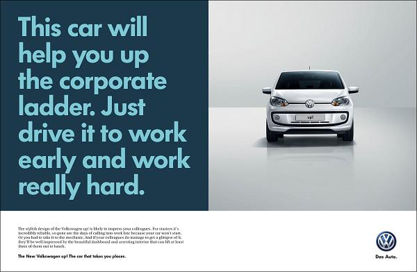 read me on twitter great ads for the vw up the car that. Black Bedroom Furniture Sets. Home Design Ideas