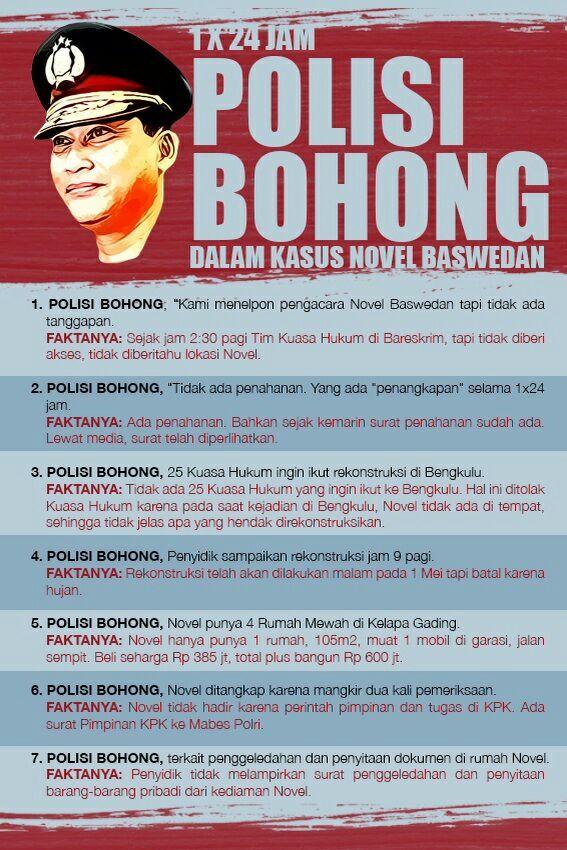 POLISI BOHONG. #BebaskanNovel http://t.co/lVLCQGGAMi