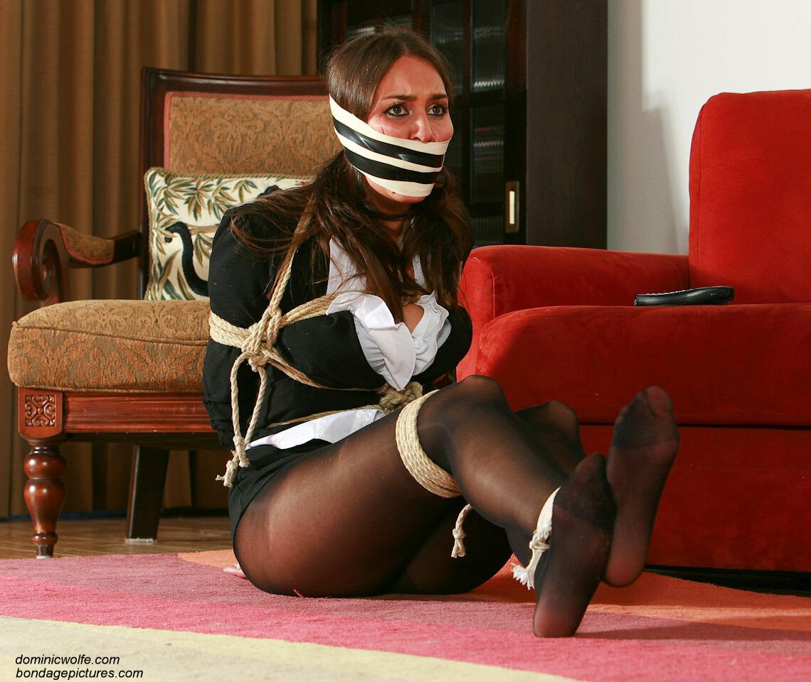 Gagged In Pantyhose