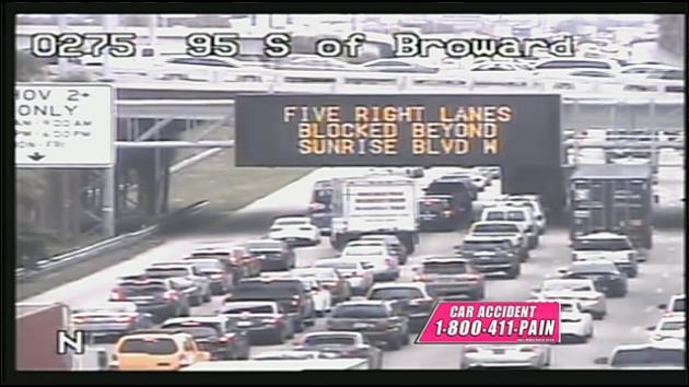Multi-car: #TRAFFIC: Multi-car crash northbound on I-95 near Sunrise
