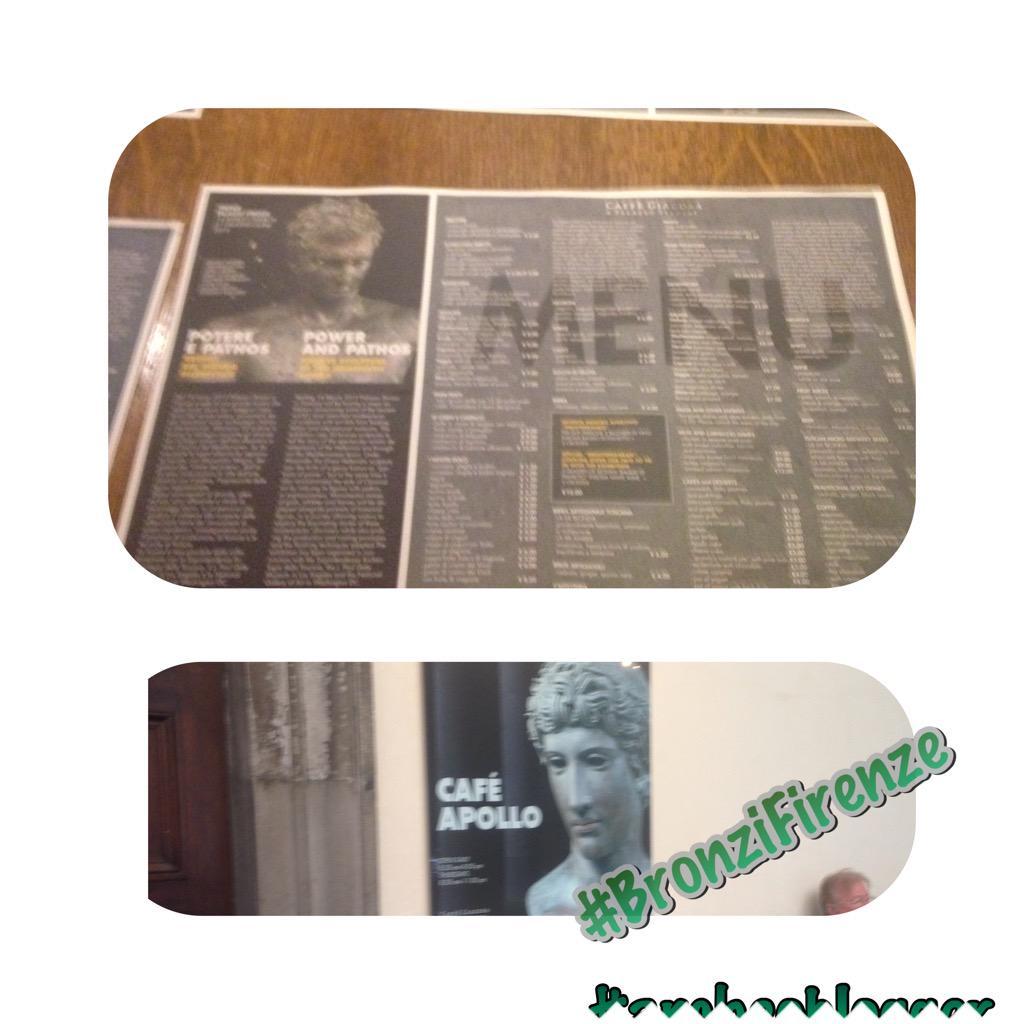 Niente è lasciato al caso alla mostra di @palazzostrozzi. Tutto in tema. #bronziFirenze http://t.co/CTazqWs66M