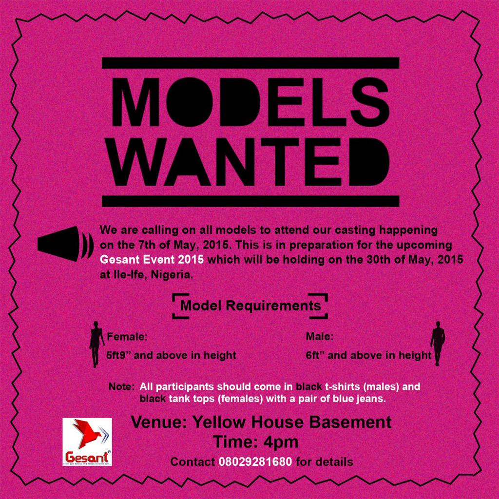 Know any models who are in ife, both amateurs and professionals please reach out it should be fun http://t.co/ETGzgJBOhK