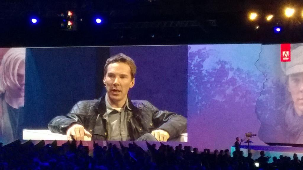 Listening to Cumberbatch sharing his thoughts on social #AdobeSummit http://t.co/HGu8Z4FX89