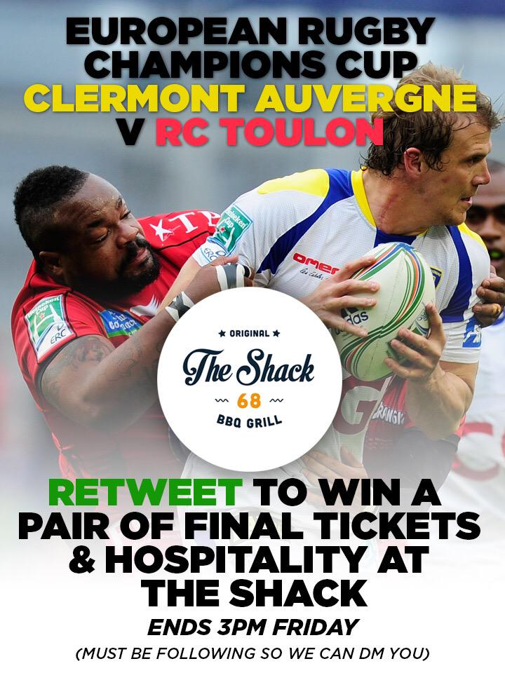Retweet to win a pair of tickets for Saturday and hospitality from our friends @Rugbyshack68 #giveaway #GetBusyLiving http://t.co/DZIelkBKl0