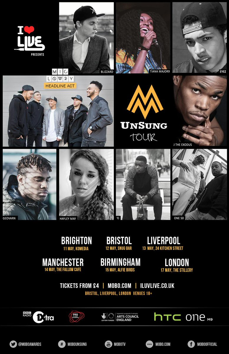 ANNOUNCEMENT: #ILUVLIVE Presents The #MOBOUnsung Tour! Hitting six cities across the country! http://t.co/2put4YwplZ http://t.co/s3KWcv57EO