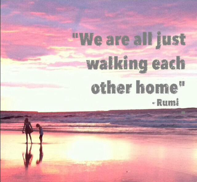 Dr Pete On Twitter We Are All Just Walking Each Other Home Rumi