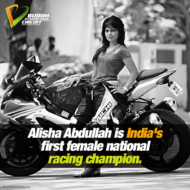 At the age of 13,Alisha Abdullah won the Best Novice Award in the National level Formula Car Racing in the open class http://t.co/H3TLvk15fH