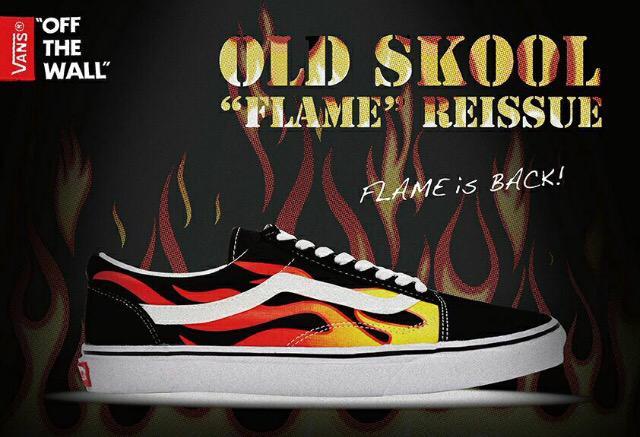 vans flame back