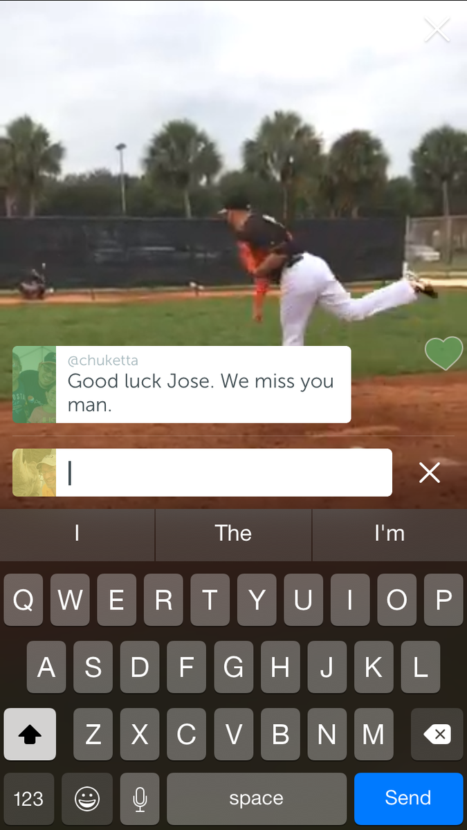 Took 2 stills of @JDFernandez16 from the awesome @Marlins @periscopeco of him throwing 15 pitches earlier. #Marlins http://t.co/iYRvxBvSaT