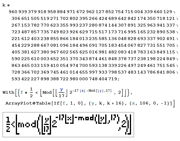 タッパーの自己言及式 http://t.co/bF0Wp8iS0q http://t.co/RydEaKfLpD