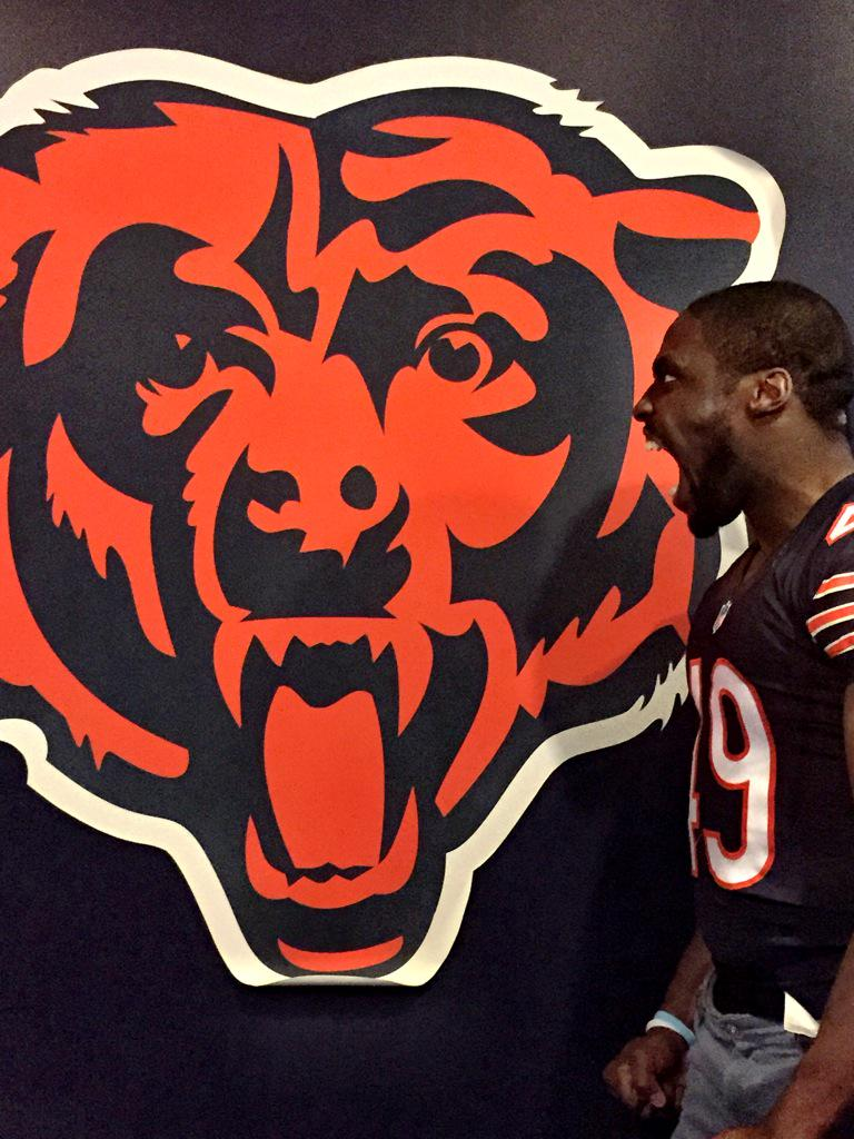 So I'm pretty excited about the draft today. You know what I'm more excited about? To be a Bear! #BearDown #NFLDraft http://t.co/zykmft7HQu